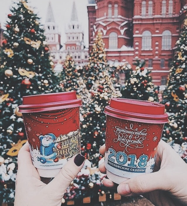 christmas, coffee, red and december