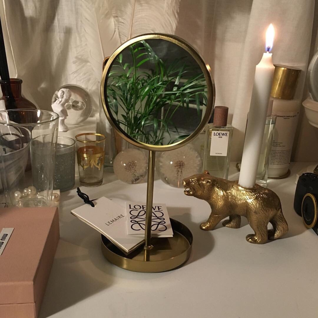 room ideas, vanity table, goals and cream