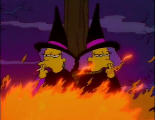 simpsons, autumn, witch and patty bubbie
