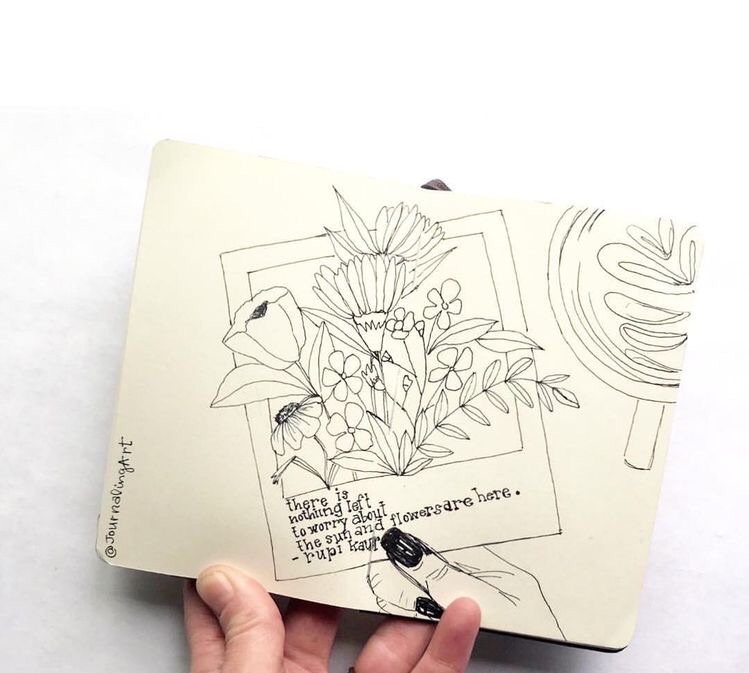 doodle art, sketchbook, study journal and aesthetic