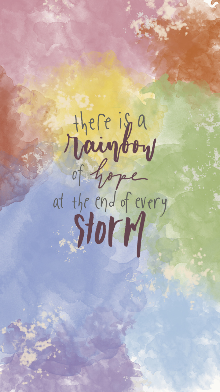 rainbow, motivation, motivational quotes and brush lettering