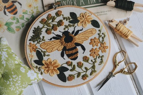 crochet, bumble bee, embroidery and sewing
