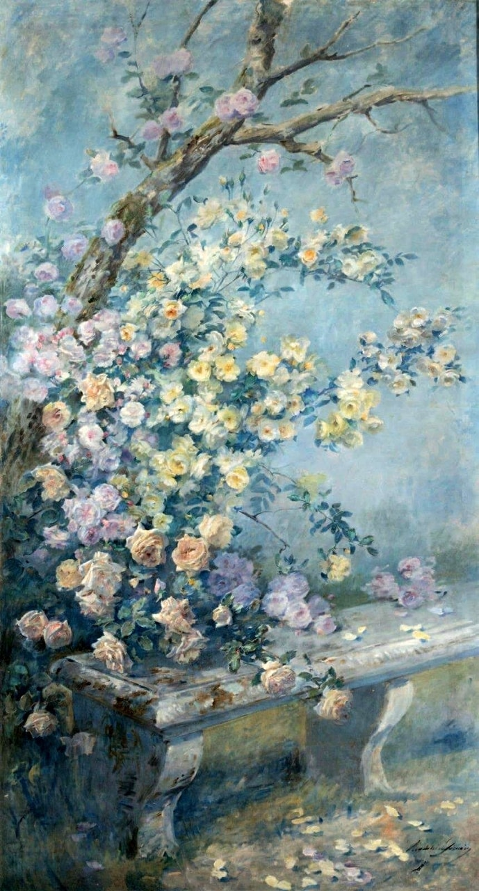 romantic art, jardin, 1800s and flower art
