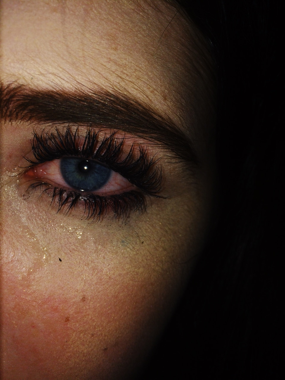 blue eyes, darkness, peace and painfull