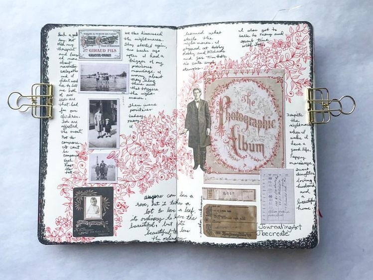 doodle art, writing, journaling and journal ideas