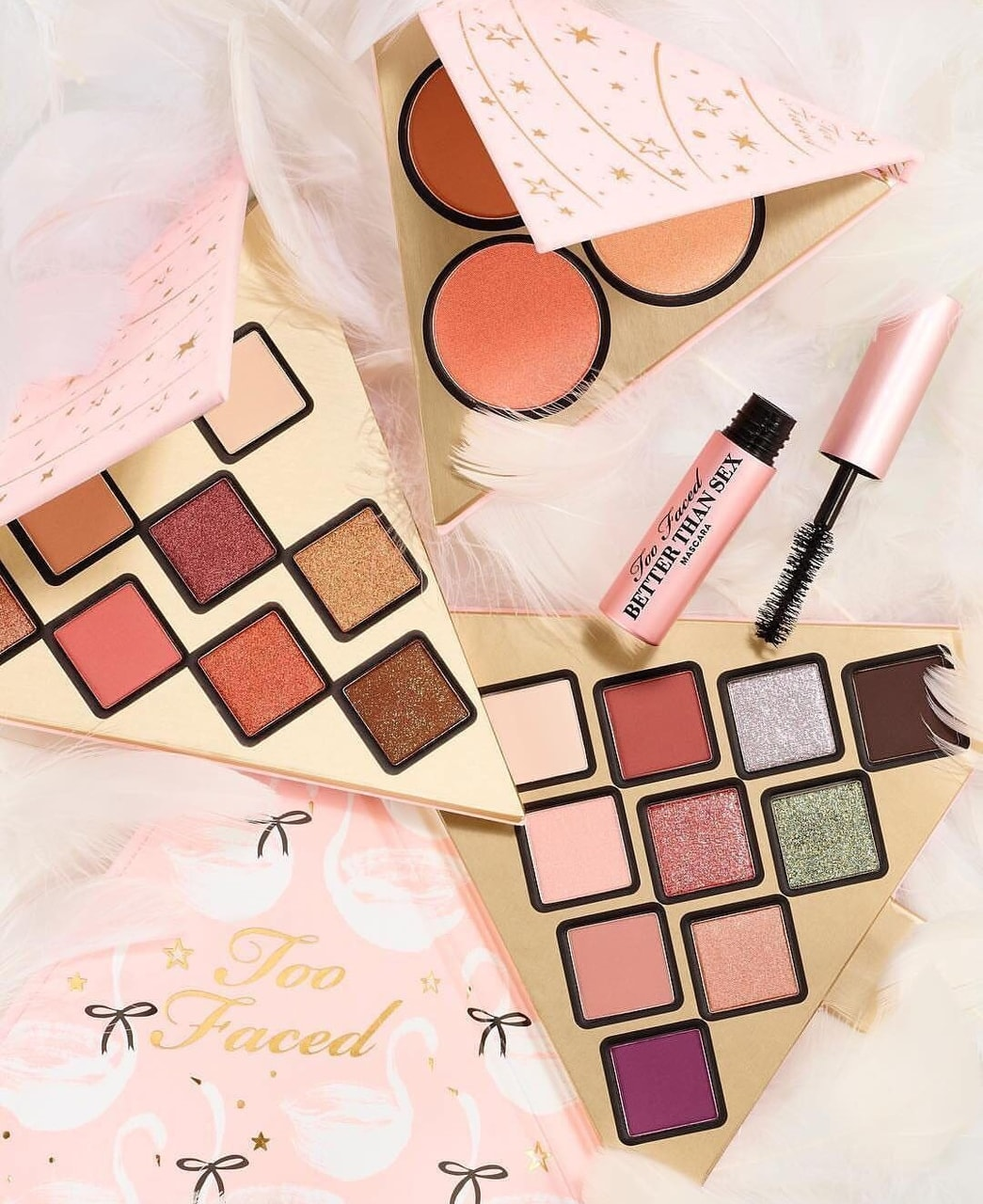 girly, pink, makeup and palette of shades