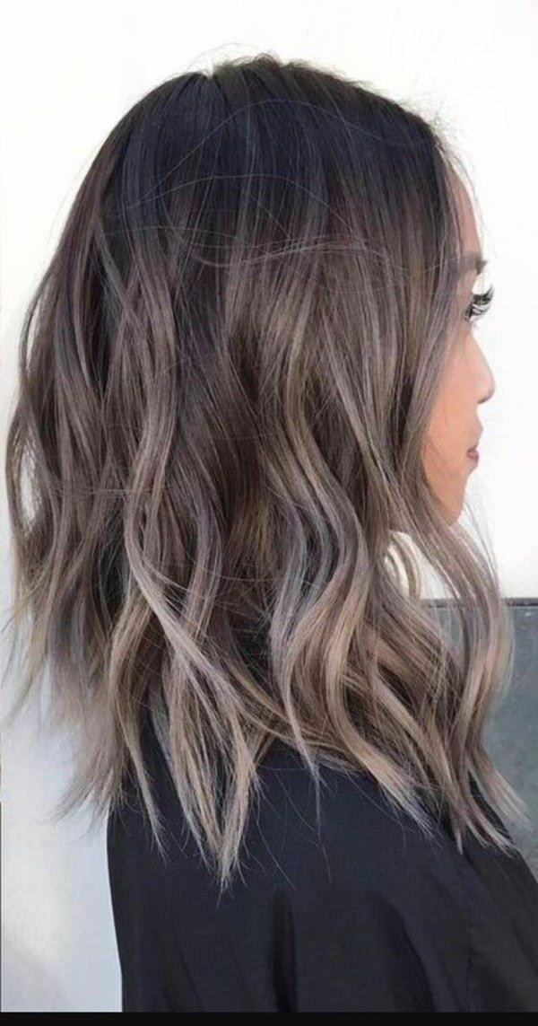 ombre, girl, curly and ash