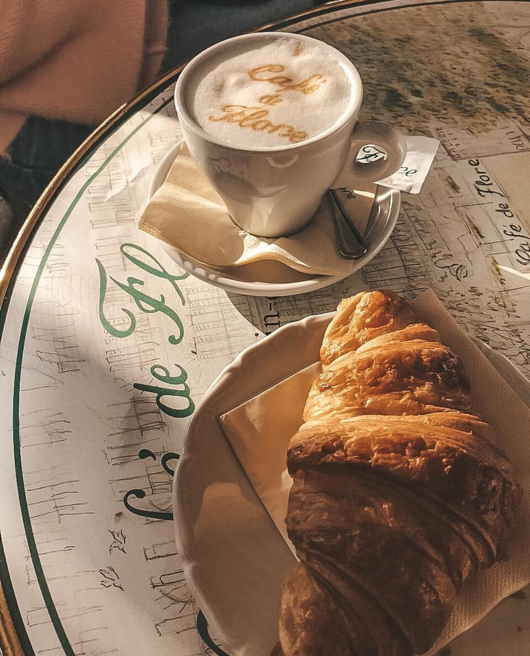 coffee, morning inspo, croissant and explore