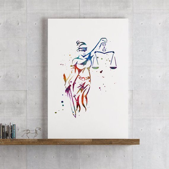 lady justice, christmas gift, law gift and for men