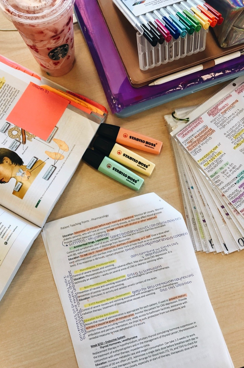 study inspiration, stationery, learning and notes