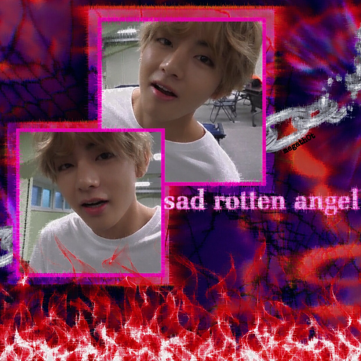 taehyung, cyber goth, bts and cyber bts