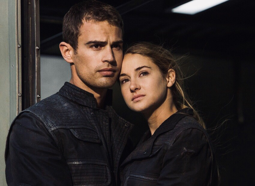 theo james, shailene woodley, divergent and four