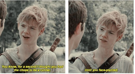 newt, thomas sangster and the maze runner