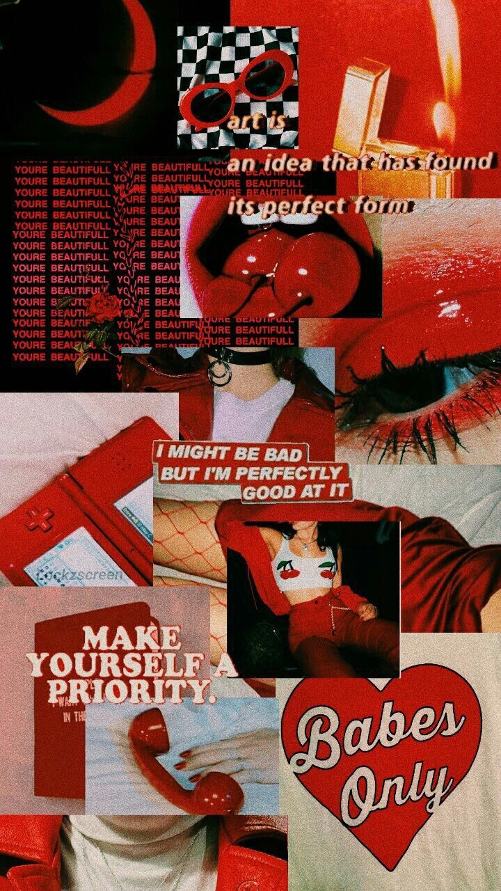 Wallpaper Red Qoute And Aesthetics Image 6672901 On Favim Com