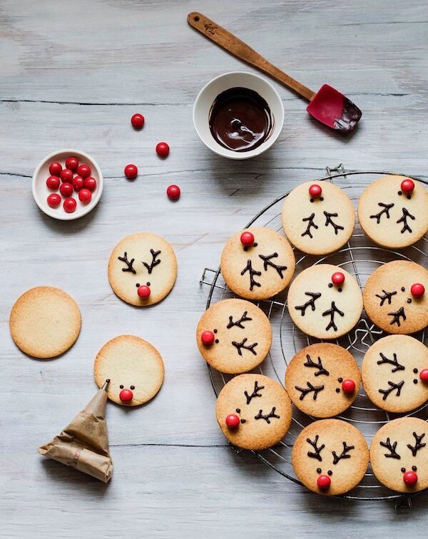 reindeer, holidays, cake and muffin