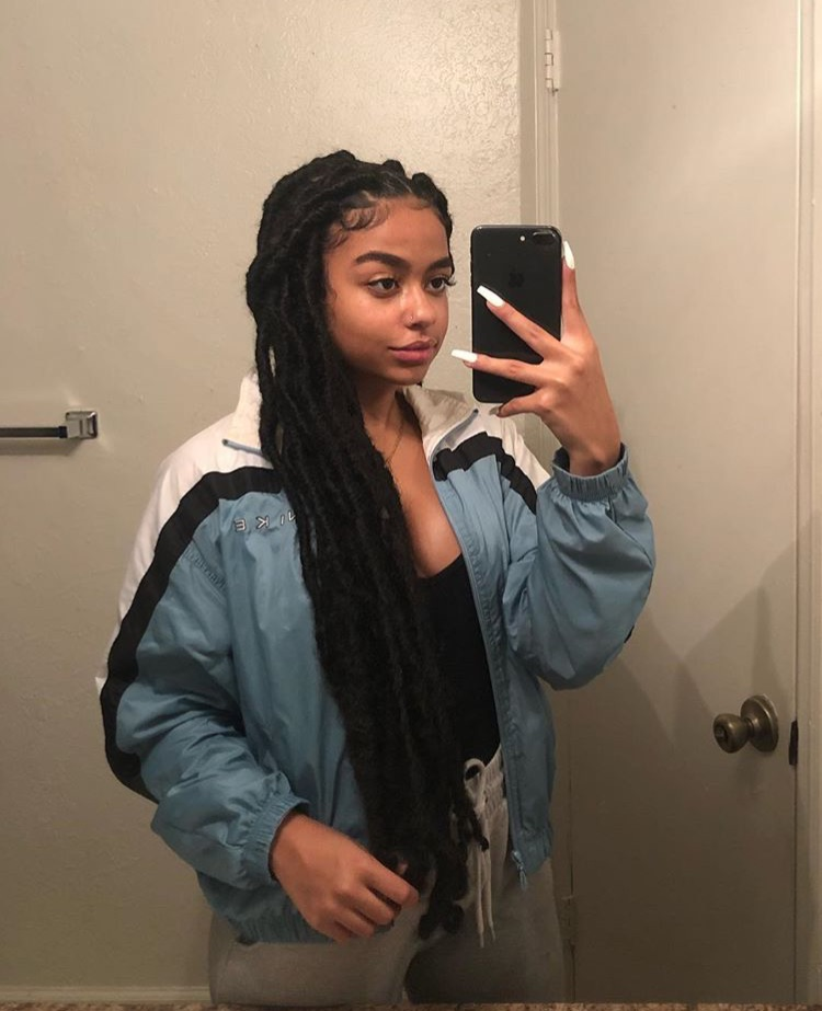protective style and faux locs