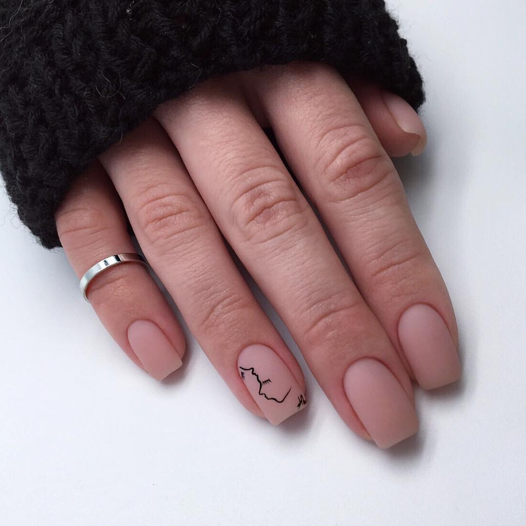 fashion, color ideas, nude nails and style