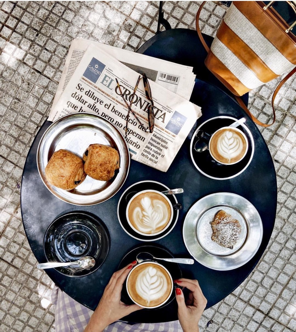 java, espresso, morning inspo and pastries