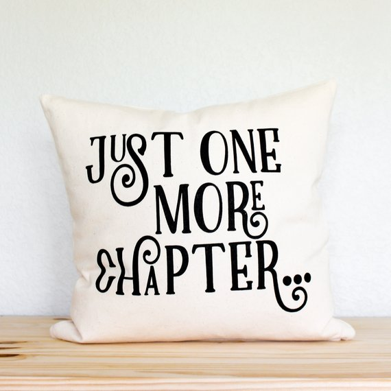pillow cover, gift for her, bookworm and gift for girlfriend