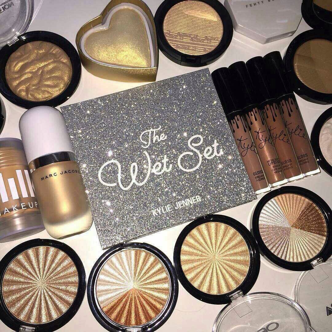 makeup, cosmetics, collection and beauty