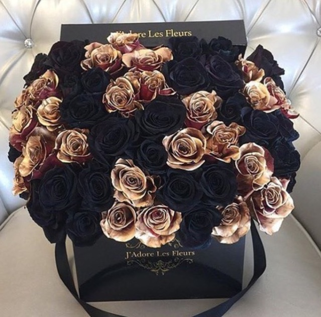 black roses, luxury, rich and flowers