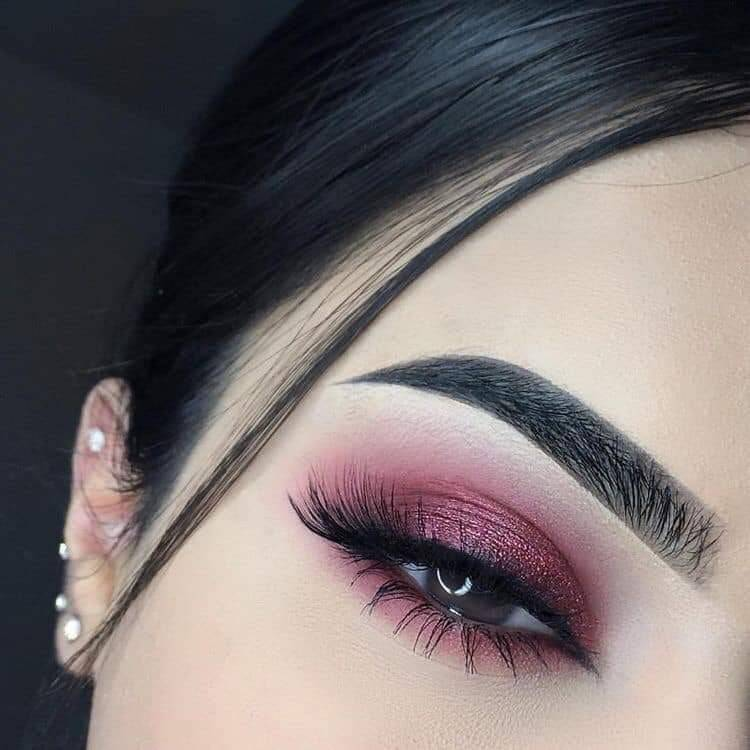 brows, style, cranberry smokey eye and eyeshadow