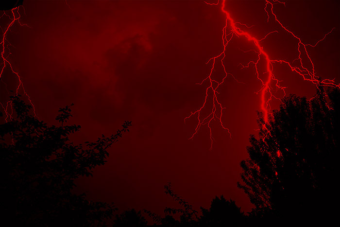 Red Lightning Aesthetic And Dark Red Image 6715127 On Favim Com