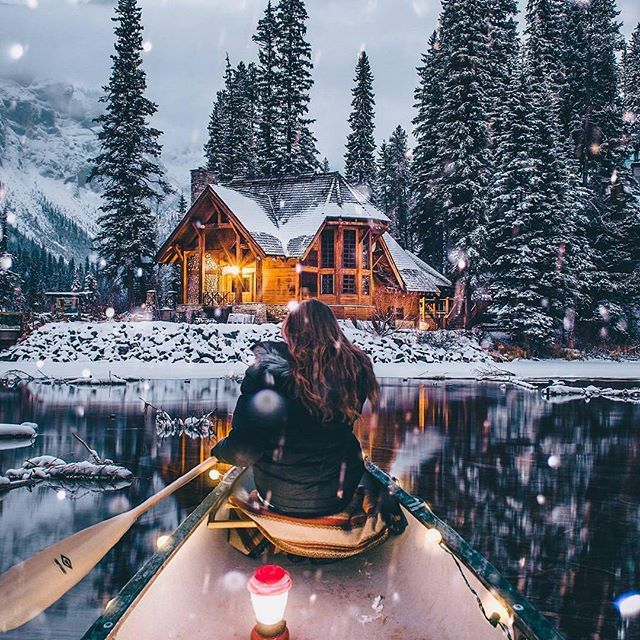 british columbia, snow, emerald lake and forest