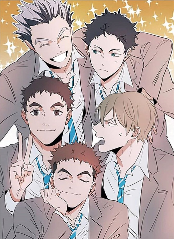 ushimjima, haikyuu teams, karasuno and oikawa