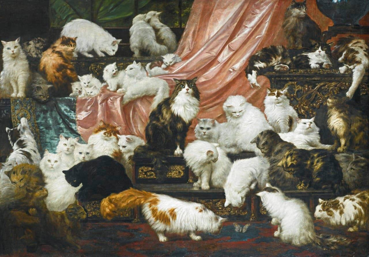 artistic about cats, kahler art, cats and cats painting