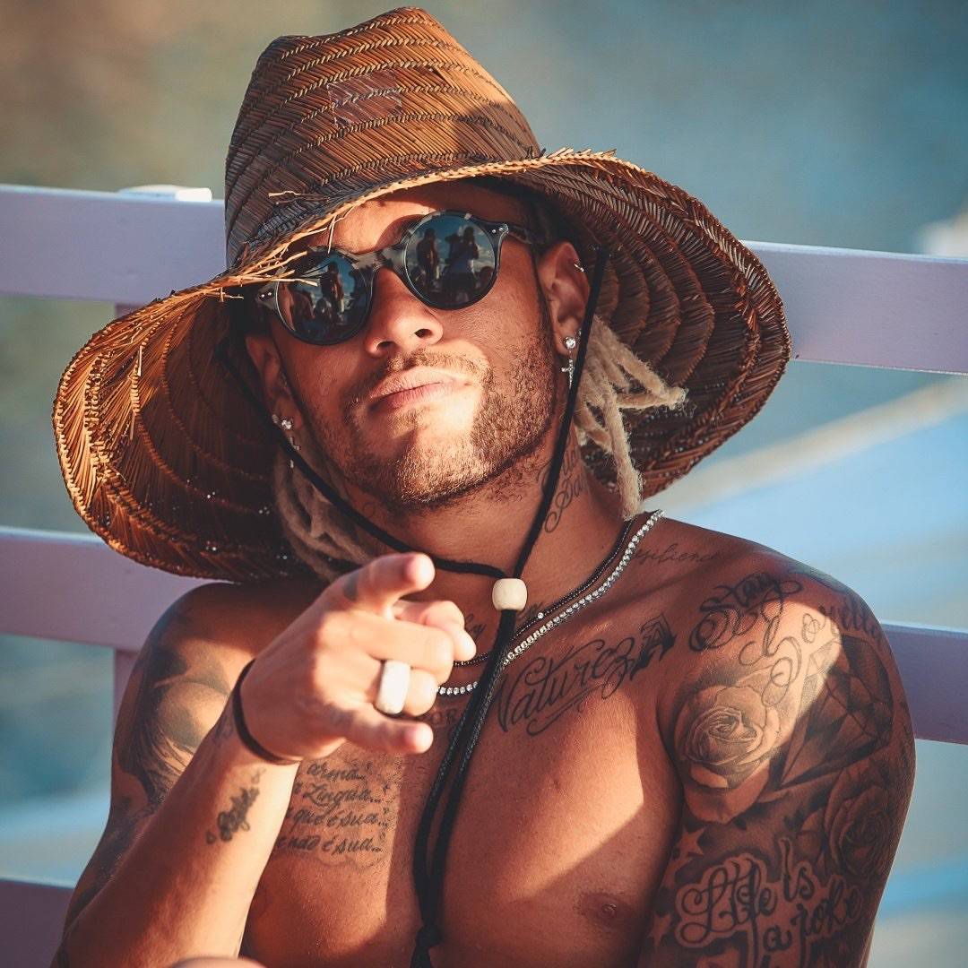 neymar jr, faux locs, tattoos and summer