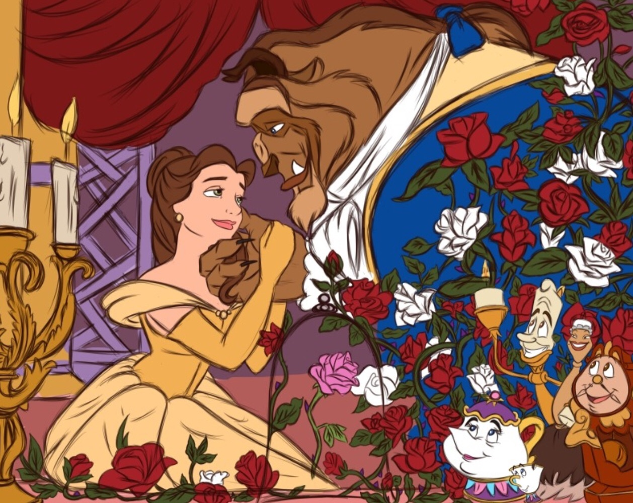 drawing, creativity, belle and beast
