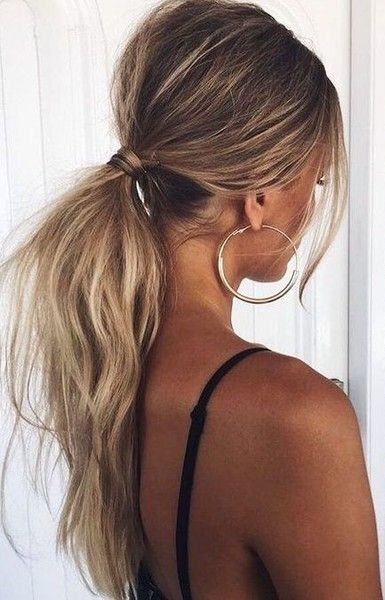idea, ponytail, style and girl