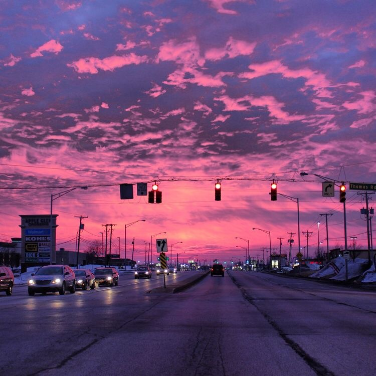 skyline, beautiful sunsets, tumblr and pink clouds