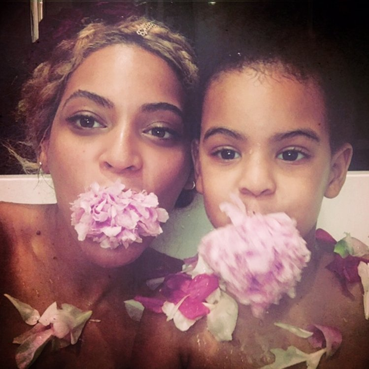 queenb, mrs carter and blue ivy carter