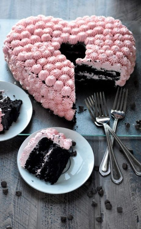 desserts, day valentine, cake and pink