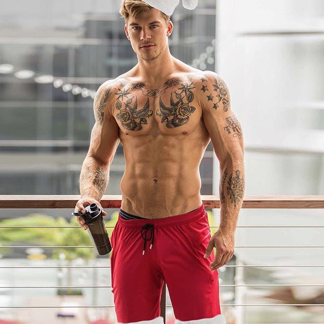 muscle, abs, model and hot