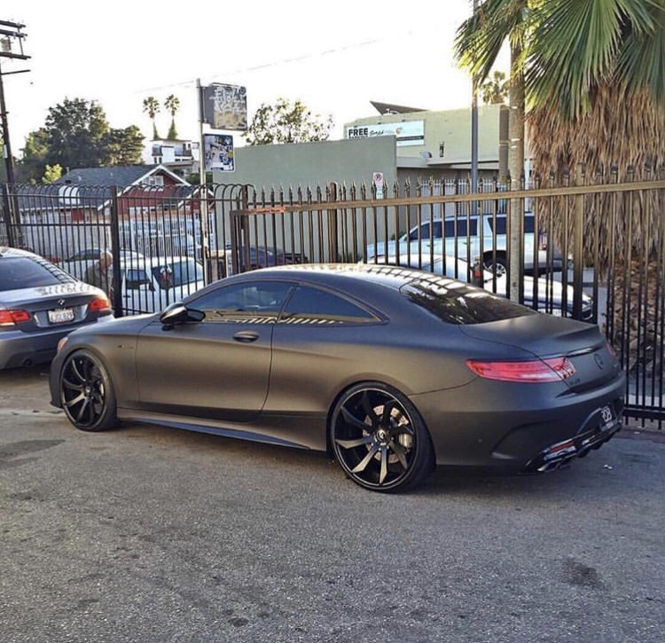 cyber, s coupe amg, matte black and s class