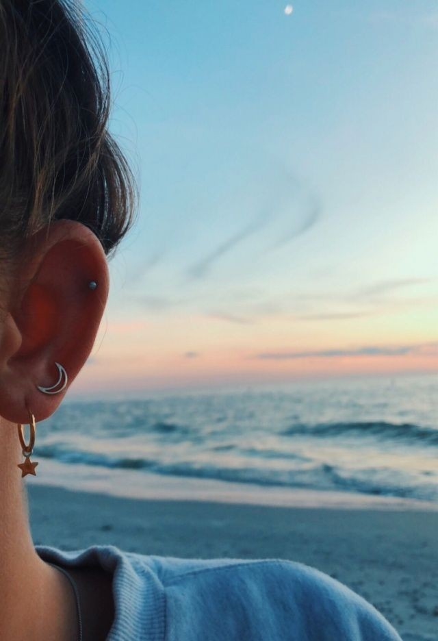 accessories, moon, waves and piercing