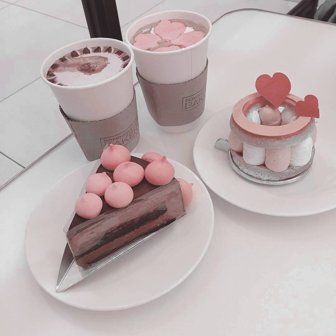 pink pastel, pink, asthetic and cake