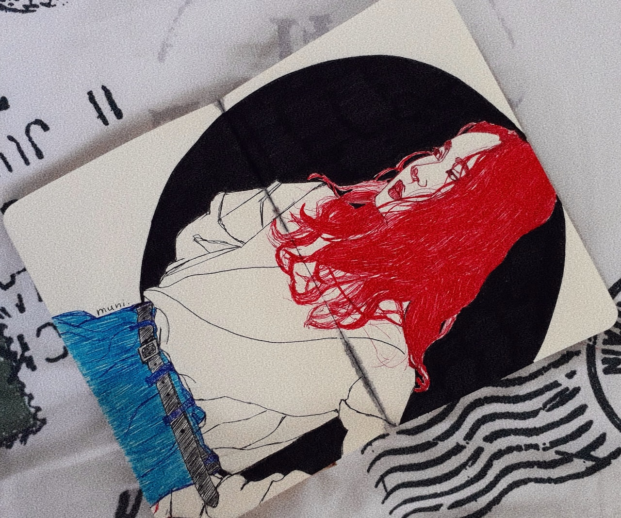 aest, sketchbook, girl drawing and izim