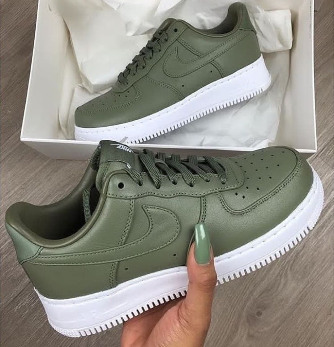 sherlinanym, green, air force and nike air force 1