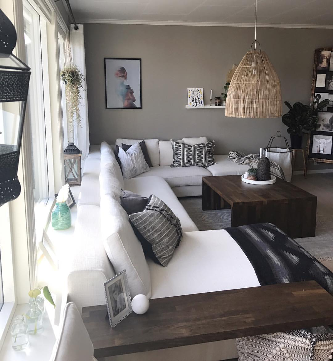 grey, house, white and living room