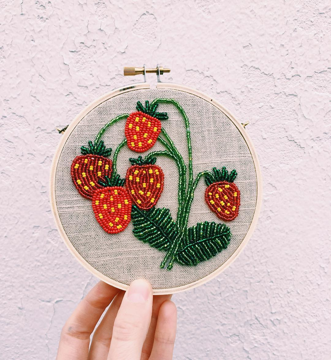 sewing, strawberry, tessa perlow and crafts