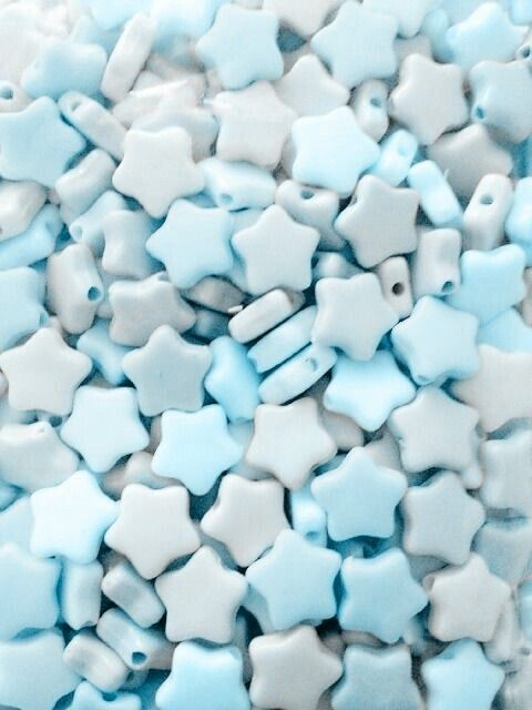 stars, baby blue aesthetic, pastel and pastel aesthetic