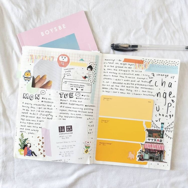 ideas, bullet journal layout, layout and weekly spread