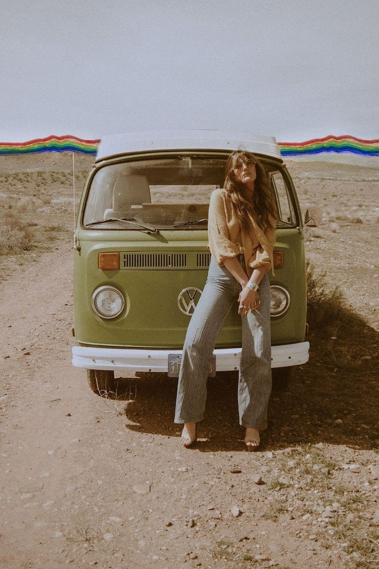 mini bus, car, nature and hippies