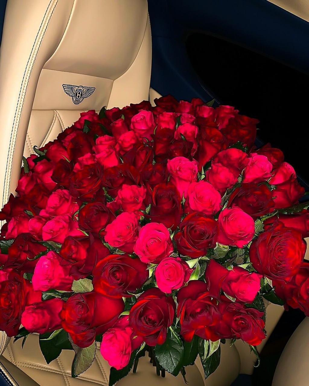 bentley, roses, luxury and car