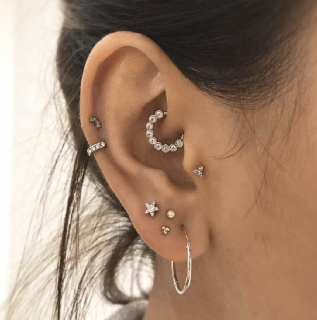 tragus, helix, earring and ears