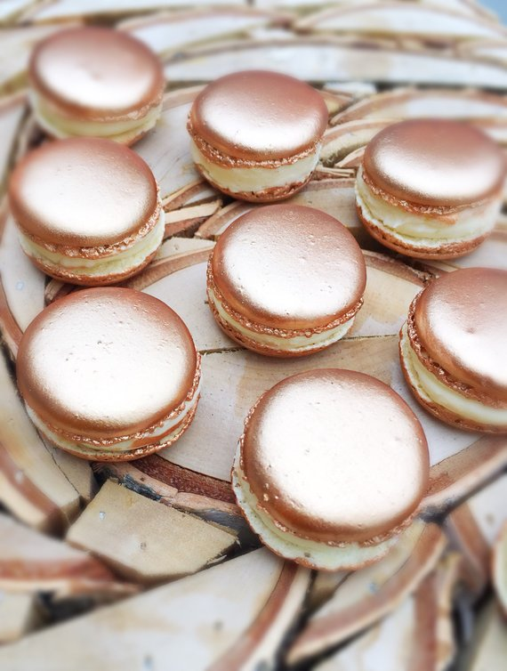rose gold gifts, bridesmaids gifts, edible gifts and rose gold decor